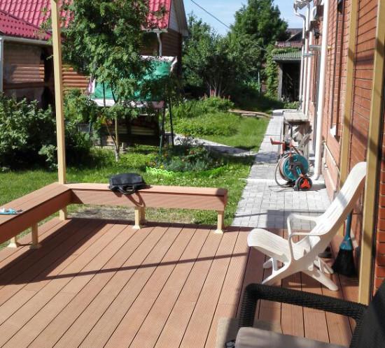 Веранда со скамейками, пос.Кудрящи, г.Новосибирск