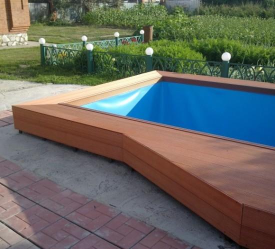Парапет бассейна, с.Сосновка, г.Бердск
